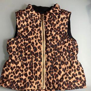Old Navy leopard vest 12-18m